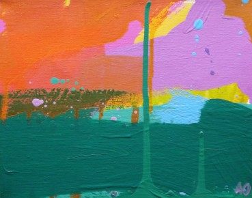 Winter Sun I, Acrylic on Canvas, 8 x 10 in